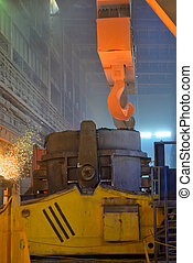 The molten steel transport