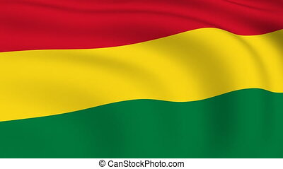 Flying Flag of Bolivia | LOOPED |