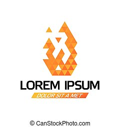 Lorem Ipsum Design Poster with web image consisting of many...