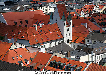 Munich, Germany - Old German architecture. Cityscape of...