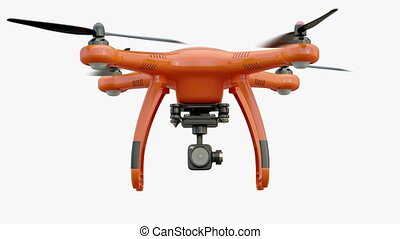 Flying drone Slow Motion 4K - Flying drone remotely...