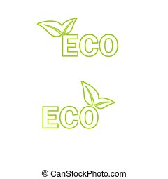 Ecology icon. Vector