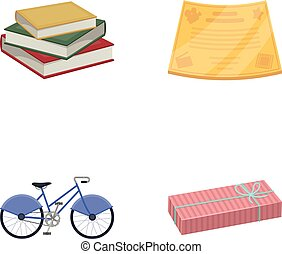 document, power of attorney and other web icon in cartoon style., business, trade, cinematography, icons in set collection.