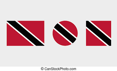 Flag Illustrations of the country of Trinidad and Tobago -...
