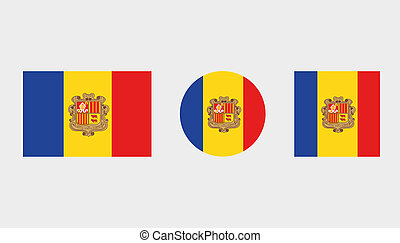 Flag Illustrations of the country of Andorra - Flag...