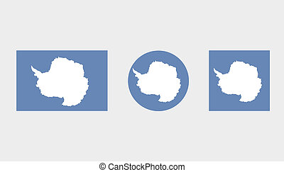 Flag Illustrations of the country of Antartica - Flag...