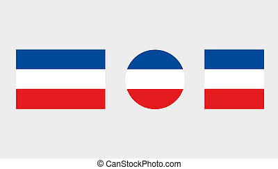 Flag Illustrations of the country of Yugoslavia - Flag...