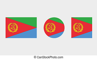 Flag Illustrations of the country of Eritrea - Flag...