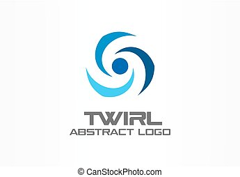 Abstract logo for business company. Corporate identity design element. Eco friendly energy, twirl, propeller, screw logotype idea.