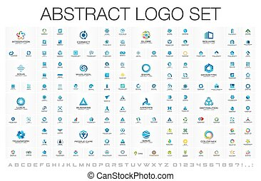Abstract logo set for business company. Corporate identity...