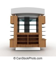 3d store furniture display shelf