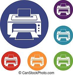 Printer icons set