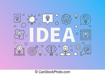 Idea creative design. Vector colorful background made with...