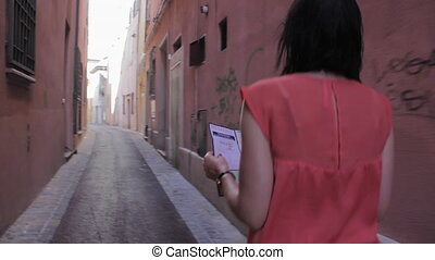 Tourists got lost on the narrow streets of the old city -...