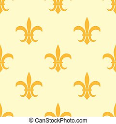 Seamless golden pattern with Fleur de Lis