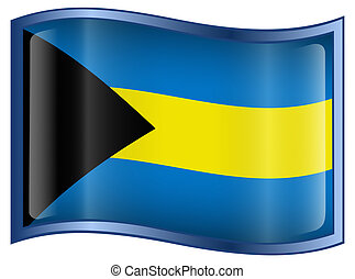 Bahamas Flag Icon.