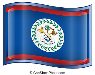 Belize Flag Icon.