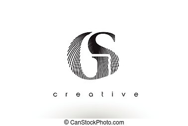 GS Logo Design With Multiple Lines and Black and White Colors.
