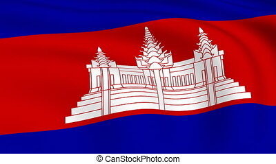 Flying Flag of Cambodia | LOOPED |