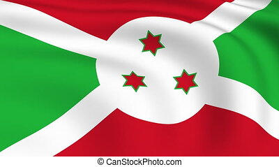 Flying Flag of Burundi | LOOPED |