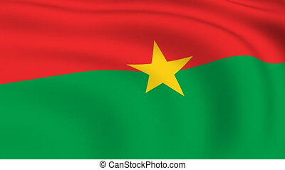 Flying Flag of Burkina Faso | LOOPED |