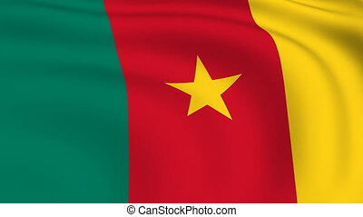 Flying Flag of Cameroon | LOOPED |