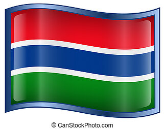 Gambia Flag Icon.
