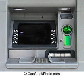 Built-in ATM machine on the street.