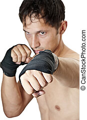 Kick. Kickboxing; Boxing; Muay Thai - fighter has directed a...