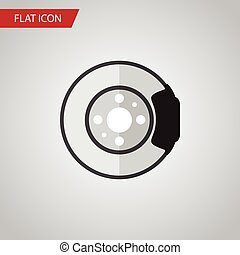Isolated Brake Disk Flat Icon. Metal Vector Element Can Be...