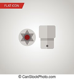 Isolated Screwdriver Star Flat Icon. Turnscrew Vector...