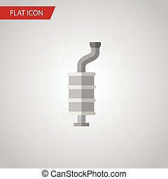 Isolated Muffler Flat Icon. Silencer Vector Element Can Be...