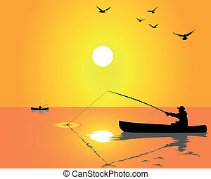 fishermen from a boat