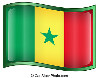 Senegal Flag icon.