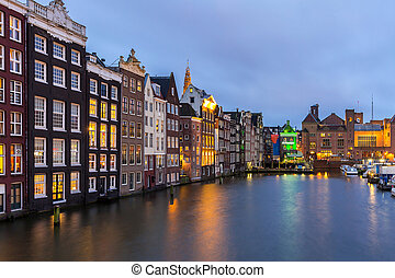 Amsterdam Canals Netherlands - Amsterdam Canals and Saint...