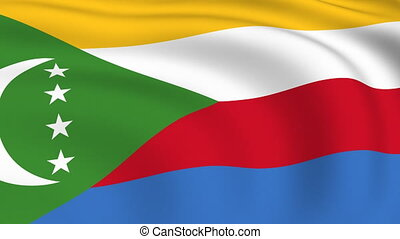 Flying Flag of Comoros | LOOPED |