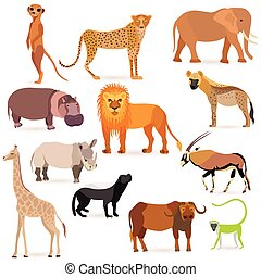 Big Set with African Animals - Set with such African Animals...