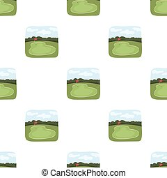 Golf course.Golf club single icon in cartoon style vector...