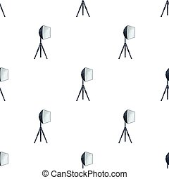Lighting device on a tripod.Making movie single icon in...