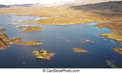 rannoch, flug, aus, nächste, erstaunlich, festmachen,  Glencoe, landschaftsbild