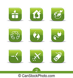 Ecology icons smooth series - Set of nine ecology web icons...