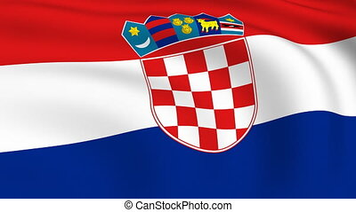 Flying Flag of Croatia | LOOPED |