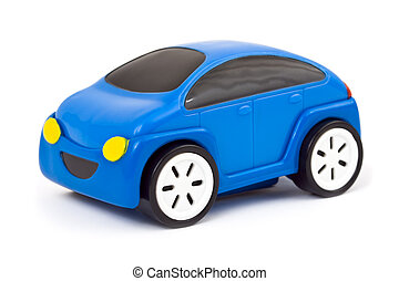 Toy car isolated on white background