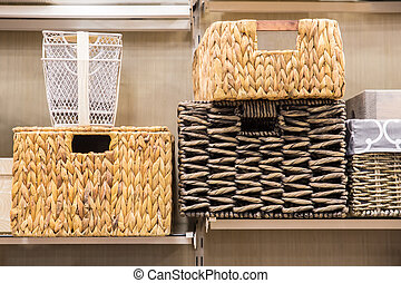 baskets - Assorted variety of home storage organizing...