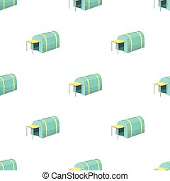 Tent with awning.Tent single icon in cartoon style vector...