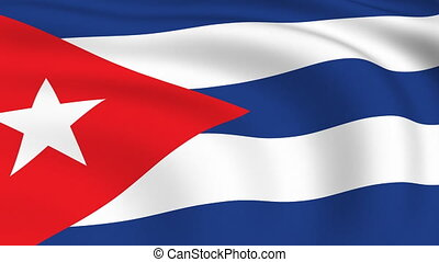 Flying Flag of Cuba | LOOPED |
