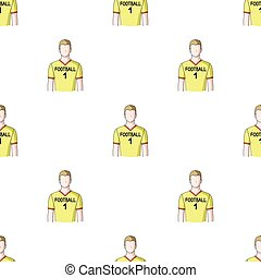 Footballer.Professions single icon in cartoon style vector...