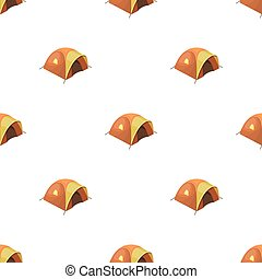Tent tourist with awning.Tent single icon in cartoon style...