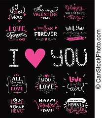 St. Valentine's Day hand lettered love confession greeting...