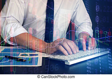 Online trading technology concept.